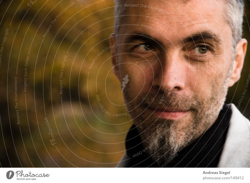 Portrait photograph Man Face Autumn Gray Human being Facial hair Friendliness Z Computer user