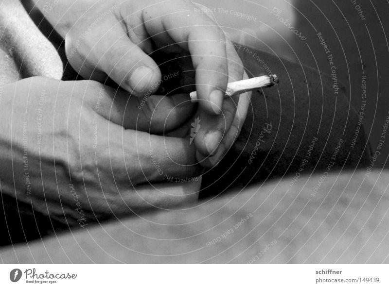 Man Break Smoking To hold on Tobacco products To enjoy Cigarette Tar Addiction Unhealthy Dependence Nicotine Retentive Men`s hand Cigarette Butt Cigarette break