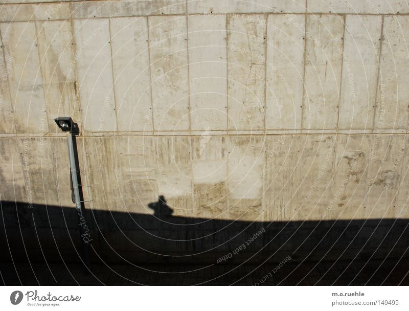 exposed concrete Wall (building) Shadow Concrete Shadow play Lantern Silhouette Modern Barcelona Industry Wall (barrier)
