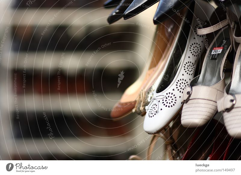 White Beautiful Footwear Going Walking Elegant Clothing New Store premises To go for a walk Paying Sell Depth of field Lanes & trails Hideous Financial Industry