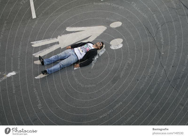 Woman Human being Man Joy Relaxation Street Emotions Gray Style Funny Concrete Lie Transport Perspective Break Clothing