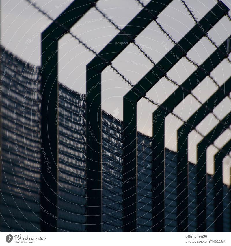 Dark Metal Fear Threat Protection Safety Fence Barrier Border Force Testing & Control War Escape Crisis Surveillance Refugee