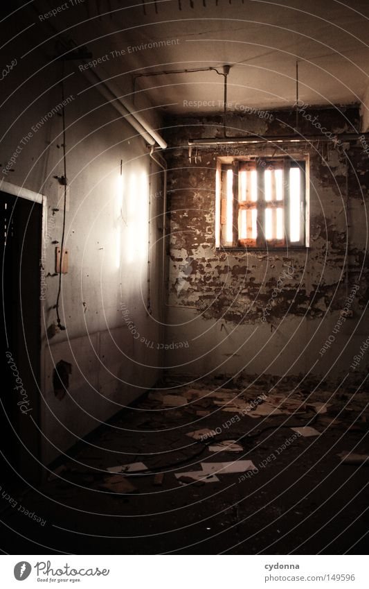 Old Loneliness Colour Lamp Wall (building) Emotions Window Building Room Lighting Background picture Closed Paper Broken Tracks Transience