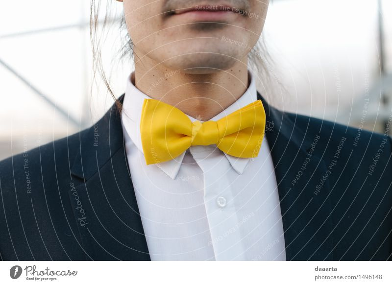 yelllow bow tie City Joy Winter Yellow Life Style Lifestyle Feasts & Celebrations Moody Design Masculine Wild Leisure and hobbies Elegant Happiness Cute