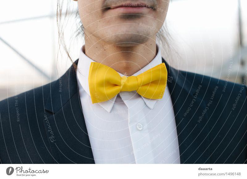 yelllow bow tie Lifestyle Elegant Style Design Joy Harmonious Leisure and hobbies Winter Feasts & Celebrations Wedding Masculine Accessory Jewellery Bow tie