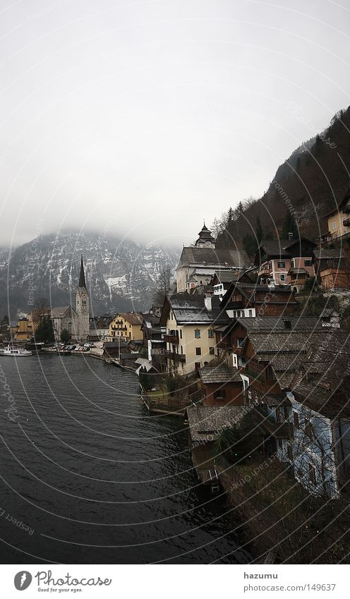 Hallstatt Winter Clouds Travel photography Historic Salzkammergut Hallstadt