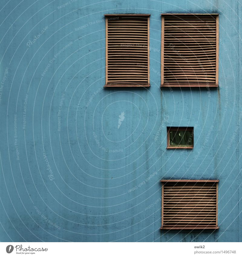 Blue House (Residential Structure) Window Wall (building) Building Wall (barrier) Above Facade Together Metal Orange Technology Simple Closed Manmade structures Plastic