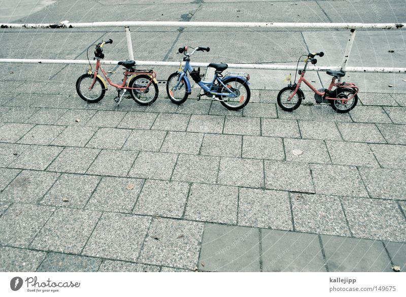 the wild guys Kiddy bike Bicycle Stairs Street Lanes & trails Grass Meadow Break Playground Playing Disregard Wall (building) Turkey Foreigner Foreign countries