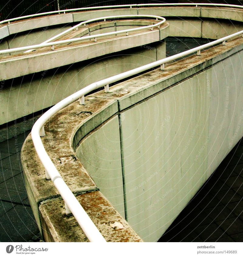 Lanes & trails Concrete Stairs Bridge Handrail Banister Bridge railing Cancelation Intersection Gangway Garage Occur Underground garage Pedestrian crossing