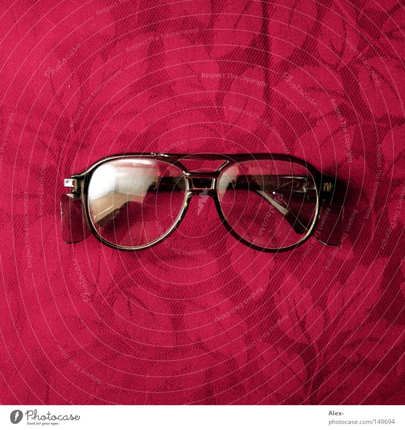 Red Leaf Black Glass Safety Eyeglasses Protection Cloth Craft (trade) Seventies Porno glasses Saftey goggles
