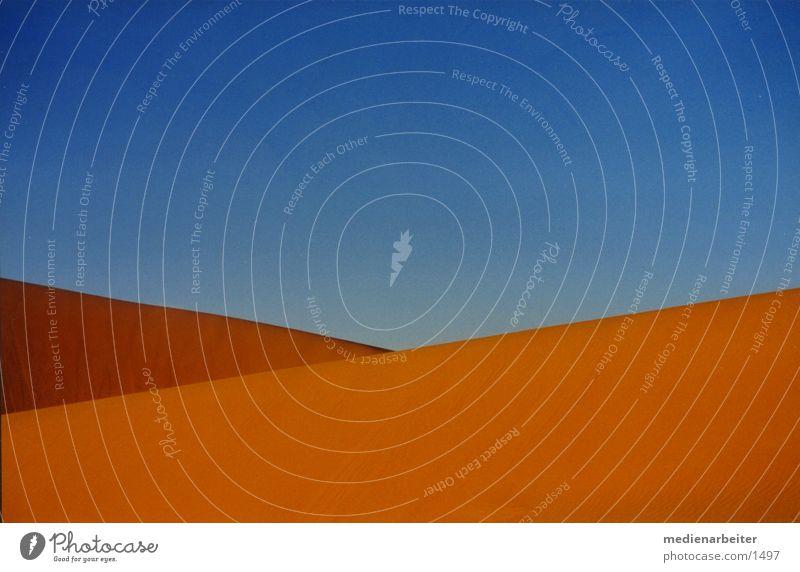 Sky Blue Yellow Sand Desert Morocco Sahara
