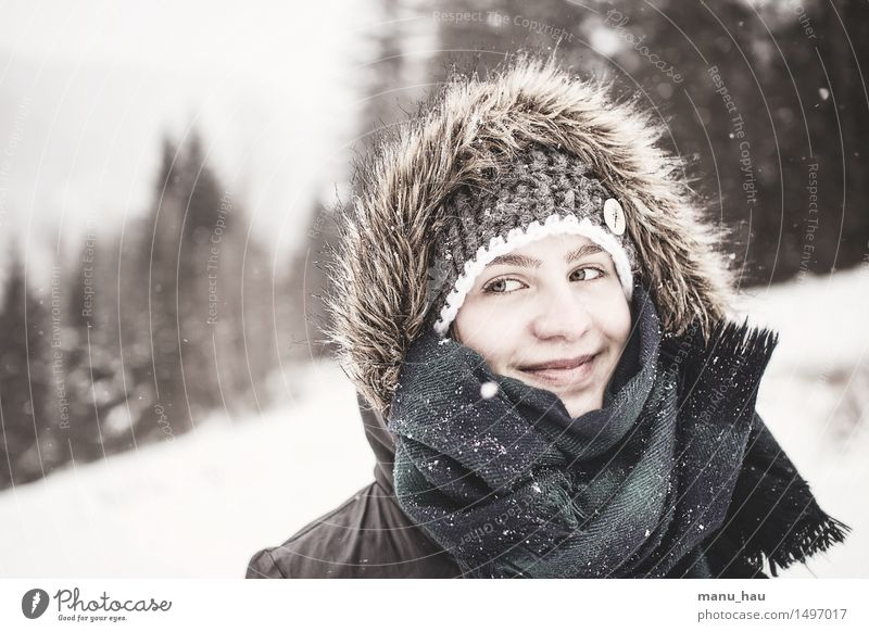 ColdbutWarm Joy Face Leisure and hobbies Vacation & Travel Tourism Winter Snow Winter vacation Human being Feminine Young woman Youth (Young adults) Adults 1