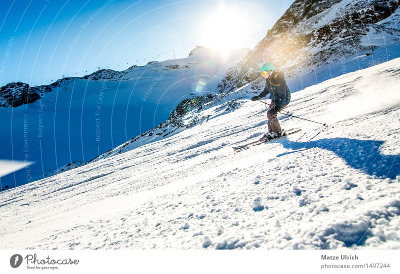 Human being Sky Nature Sun Landscape Winter Mountain Environment Snow Feminine Sports Rock Beautiful weather Adventure Peak Hill