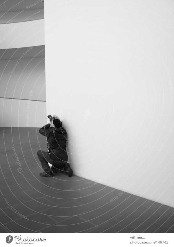 Human being Man Calm Wall (building) Architecture Adults Line Leisure and hobbies Photography Empty Corner Camera Media Hallway Photographer