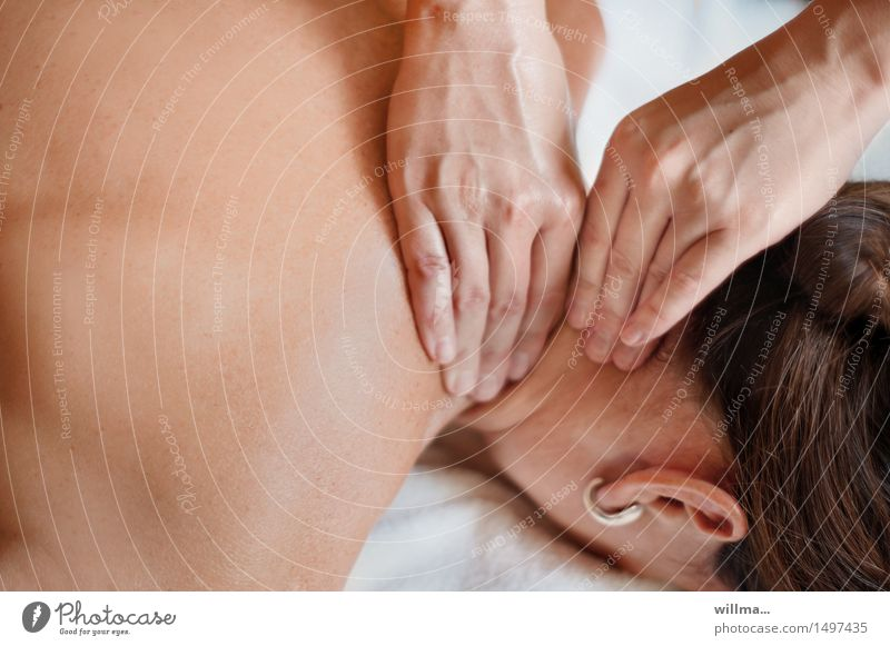 neck massage Health care Medical treatment Alternative medicine Wellness Well-being Relaxation Calm Massage Therapist Masseur physiotherapist Physiotherapy