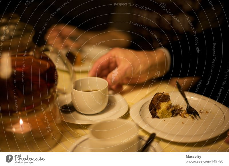 potassium cyanide Colour photo Subdued colour Interior shot Artificial light Shallow depth of field Chocolate Nutrition Eating To have a coffee Drinking