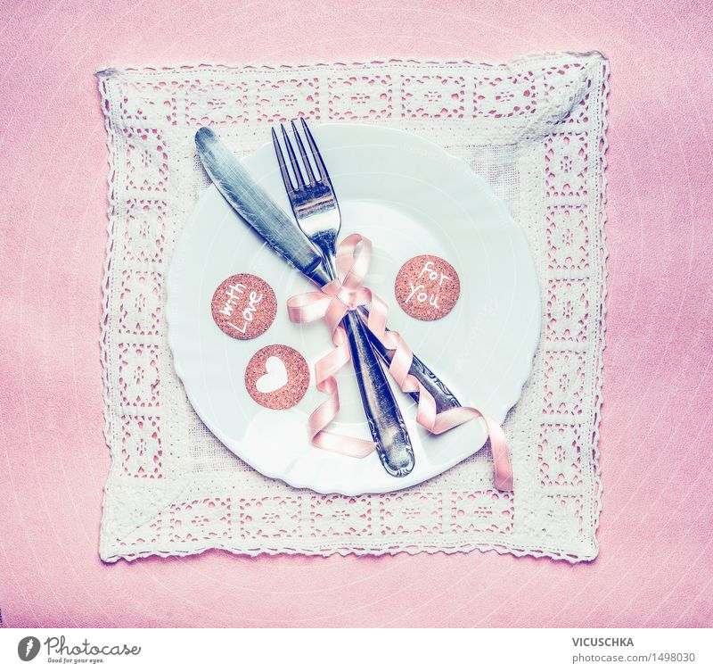 House (Residential Structure) Joy Dish Love Interior design Style Lifestyle Party Pink Design Decoration Birthday Happiness Table Heart Retro