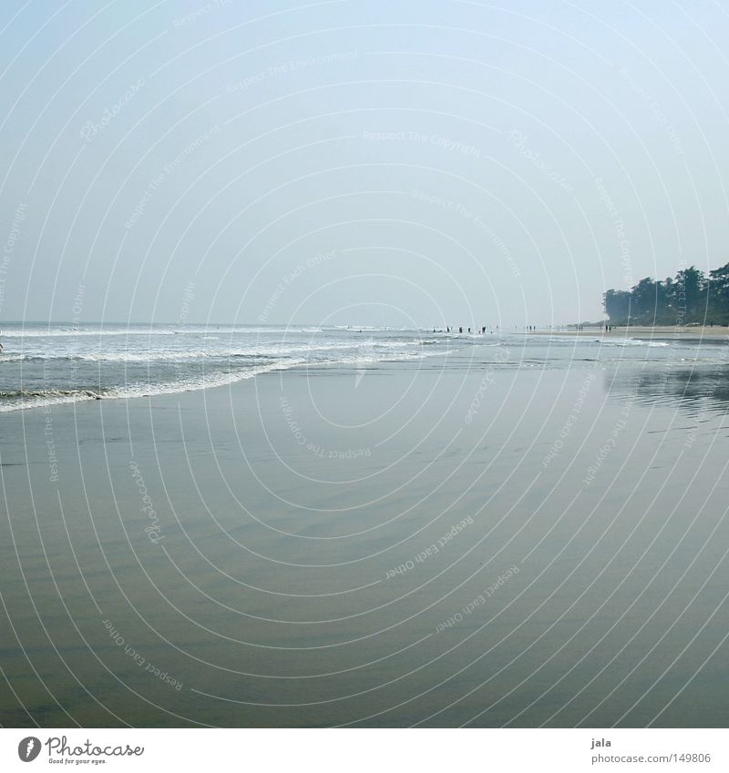 Water Ocean Blue Summer Beach Vacation & Travel Calm Loneliness Far-off places Freedom Gray Sand Moody Coast Large