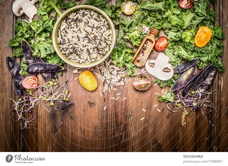 Healthy Eating Yellow Life Food photograph Style Background picture Design Nutrition Table Cooking & Baking Herbs and spices Kitchen Vegetable Organic produce
