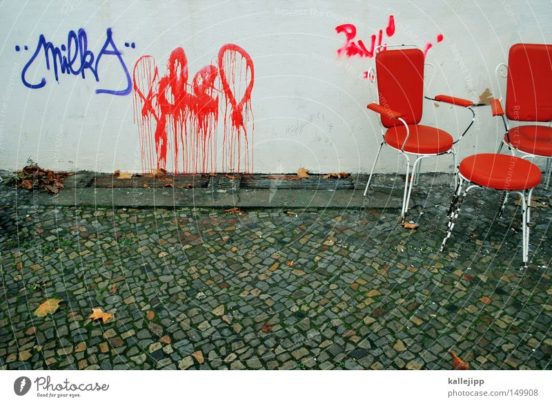 Old White Red Loneliness Calm Window Graffiti Wood Gray Building Think Orange Germany Room Interior design Dirty