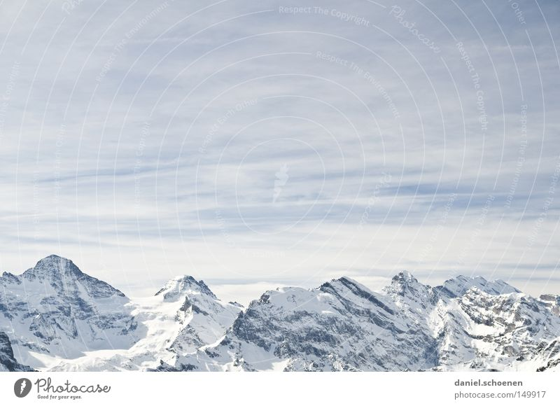 Sky White Winter Mountain Snow Background picture Bright Weather Ice Hiking Large Peak Alps Climbing Switzerland Swiss Alps