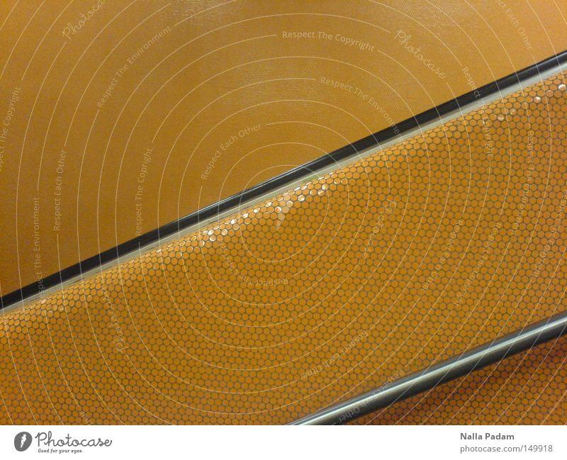 Black Orange Metal Train station Handrail Banister Mosaic Bochum Underground
