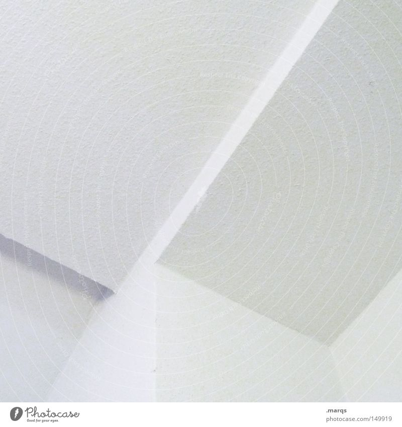 Beautiful White Wall (building) Style Wall (barrier) Building Line Bright Architecture Design Elegant Esthetic Corner Clean Obscure