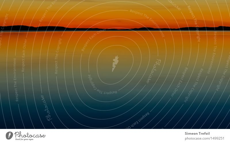 Sunset abstract Adventure Camping Summer Summer vacation Hiking Nature Landscape Water Sky Cloudless sky Horizon Rock Coast Lakeside pielines Saimaa