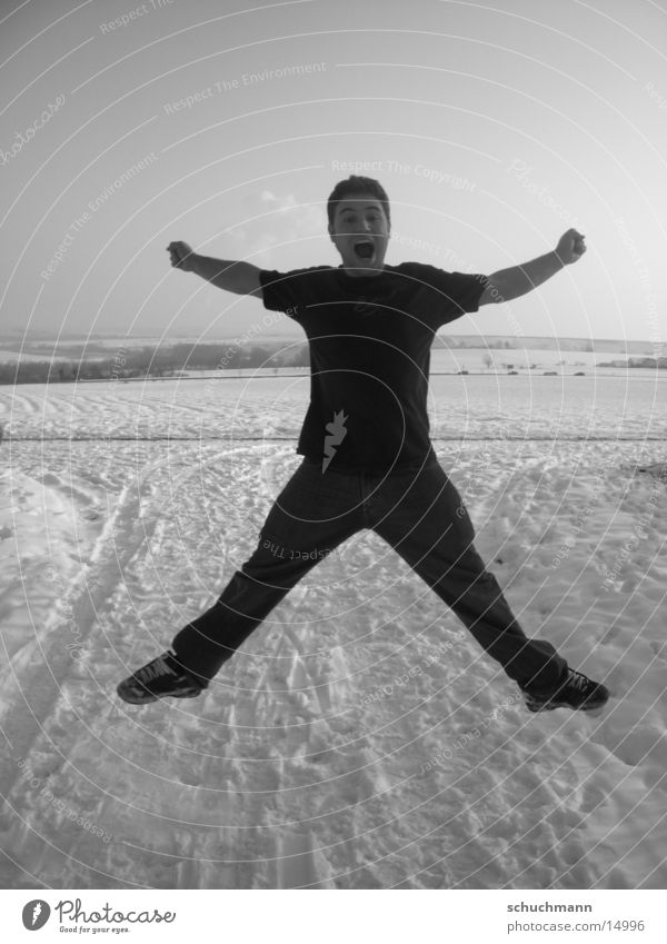 Shuchi III Winter Portrait photograph Man shuchi Black & white photo Snow