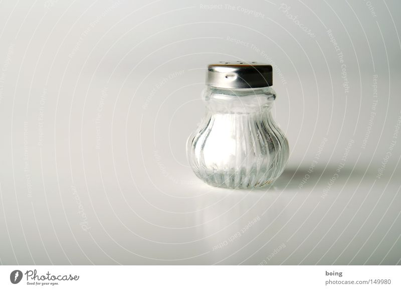 White Nutrition Herbs and spices Tangy Salt Cooking salt Object photography Salty Rock salt Spicy Salt caster Food photograph Half full Bright background