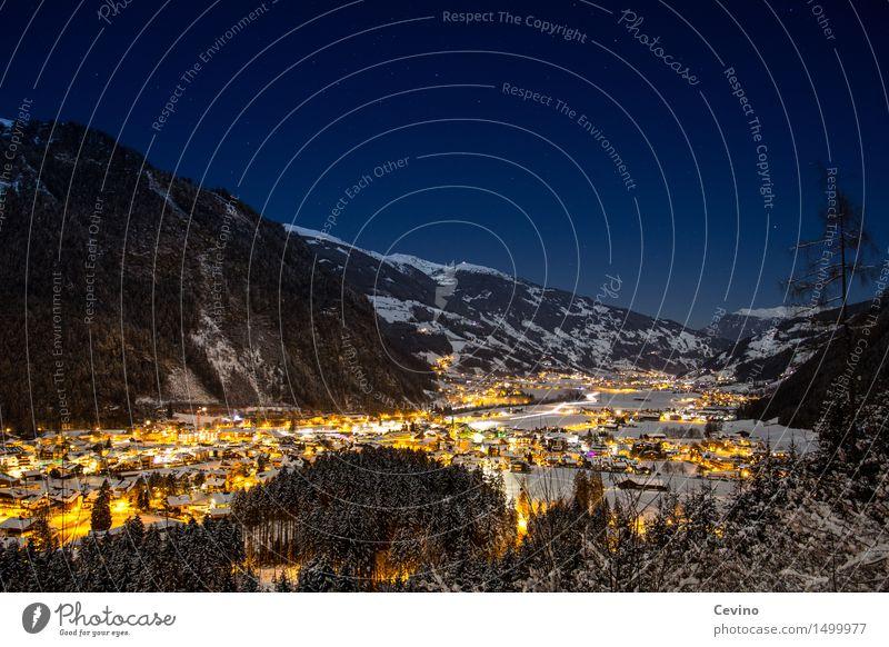 Nature City Landscape Winter Mountain Snow Horizon Europe Stars Peak Alps Snowcapped peak Skiing Skyline Cloudless sky Downtown
