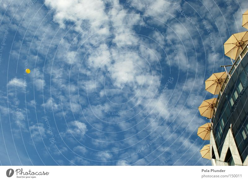 Sky Beautiful Clouds Yellow Architecture Freedom Glass Flying Modern Aviation Round Sunshade Austria Vienna Jubilee Colour