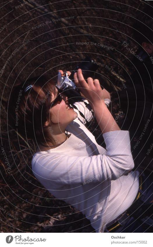 Take a picture Woman Camera taking a photograph Sun
