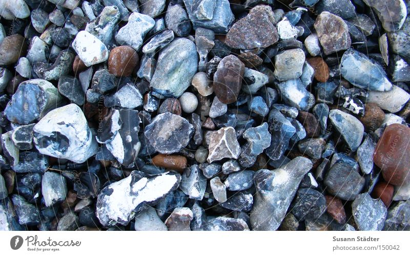 Beautiful Beach Winter Cold Coast Stone Earth Floor covering Round To fall Baltic Sea Pain Collection Rügen Sharp-edged