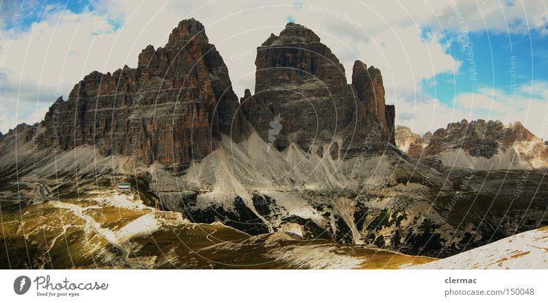 dolomites three pinnacles Mountain Alpine pasture Alps Italian Alps Italy Vacation & Travel Climbing Dolomites
