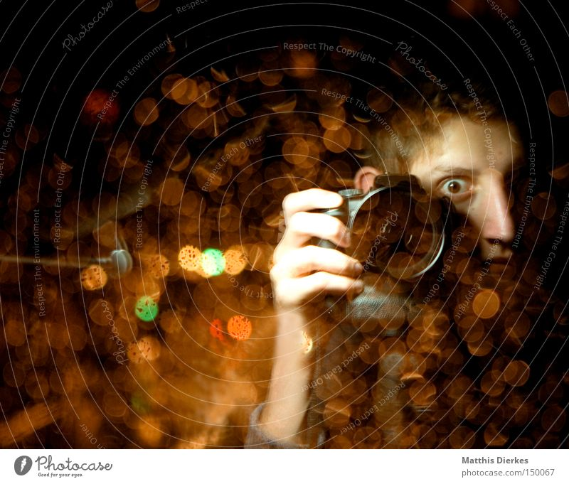 Here we go again Paparazzo Photographer Photography Human being Youth (Young adults) Take a photo Light Point of light Media Camera Devil Evil Mysterious