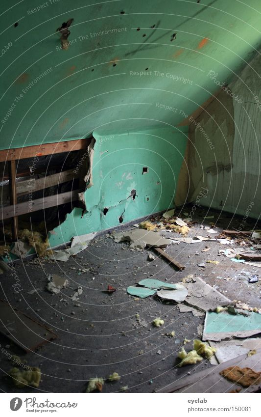 Old Green Wall (building) Building Room Dirty Empty Transience Derelict Turquoise Hollow Destruction Penthouse Desolate
