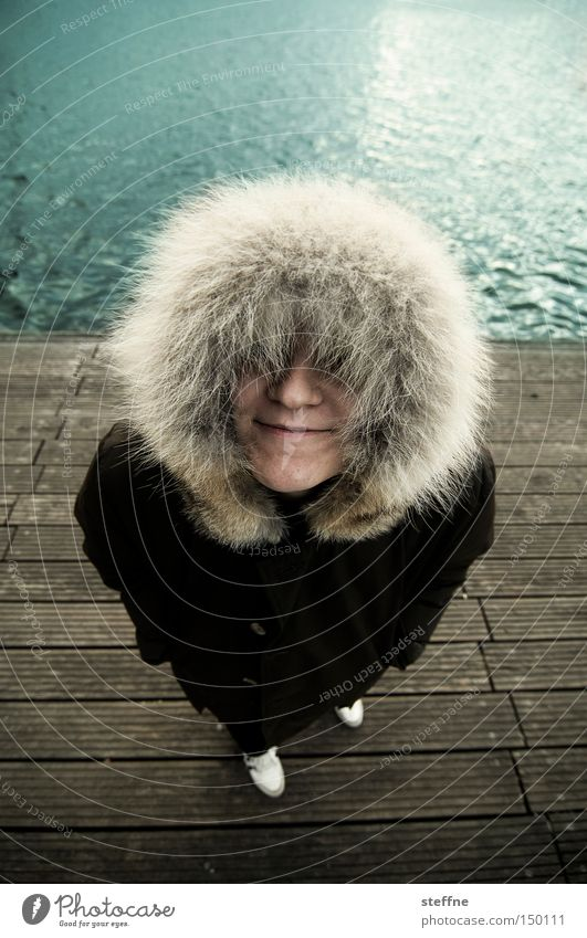 eskima Lady Woman Hooded (clothing) Spree Footbridge Funny Joy Coast Inuit