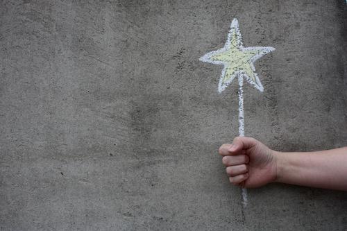 Star Star (Symbol) Happy Congratulations Desire Chalk Hand Gray Yellow White Gift Christmas star Birthday Christmas & Advent Graffiti Mural painting