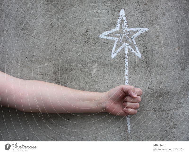 Twinkle Star (Symbol) Happy Congratulations Desire Chalk Hand Gray Yellow White Gift Christmas star Joy Birthday Feeling of happiness