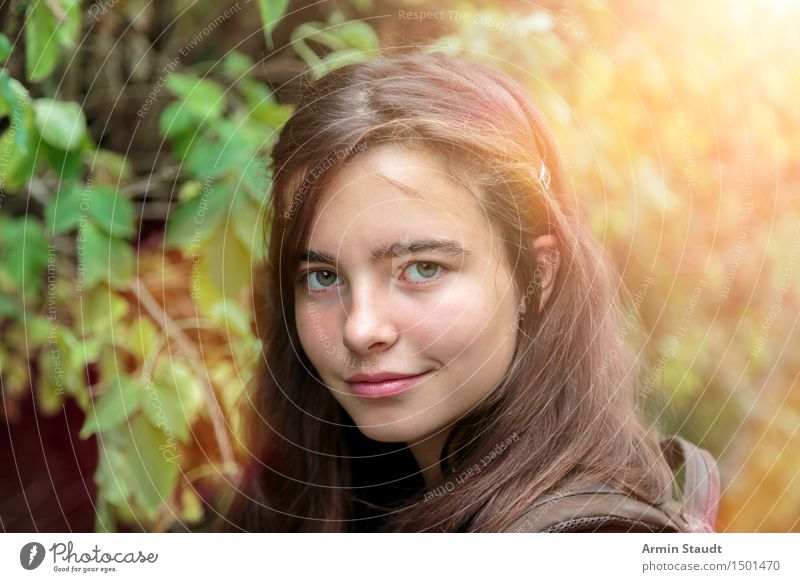 Portrait - Forest Lifestyle Joy Beautiful Well-being Contentment Vacation & Travel Trip Summer Human being Feminine Young woman Youth (Young adults) Woman