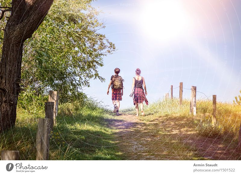 Human being Nature Vacation & Travel Youth (Young adults) Beautiful Summer Sun Landscape Joy Travel photography Life Lanes & trails Feminine Family & Relations Lifestyle Moody