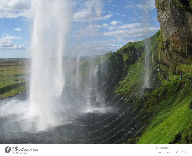 The Seljalandsfoss - Water magic in South Iceland Nature Vacation & Travel Summer River Brook Waterfall North