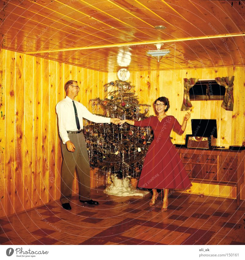 Christmas & Advent Feasts & Celebrations Joy Love Happy Couple Party Together Dance Christmas decoration Trust Event Infatuation Christmas tree Relationship