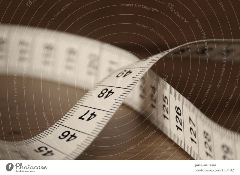 Healthy Table Digits and numbers Overweight Thin Feeble Measure Meter Cross Unit of measurement Crossed Tailor Metre-stick Tape measure Psychological disorder