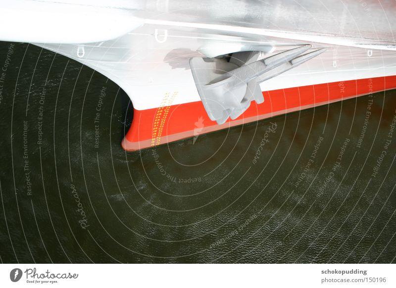 Water Watercraft Industry Technology Navigation Wanderlust Goods Bow Anchor Port of Hamburg