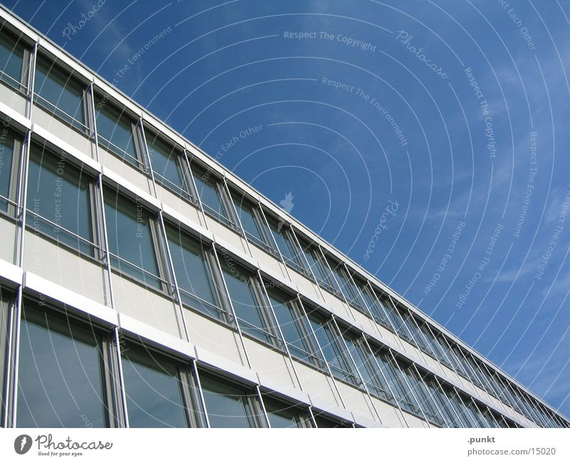 Architecture Blue sky Office building Glas facade