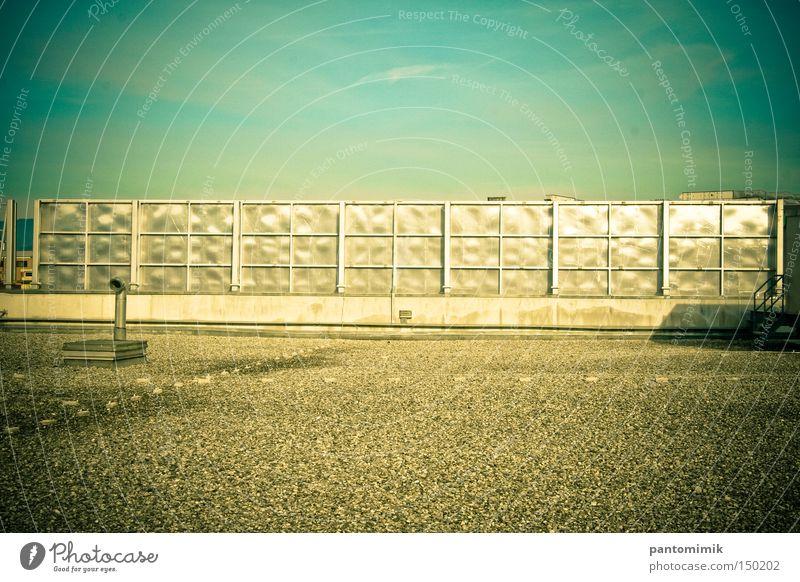 Rooftop Sky Metal Industry Clarity Fence Supermarket