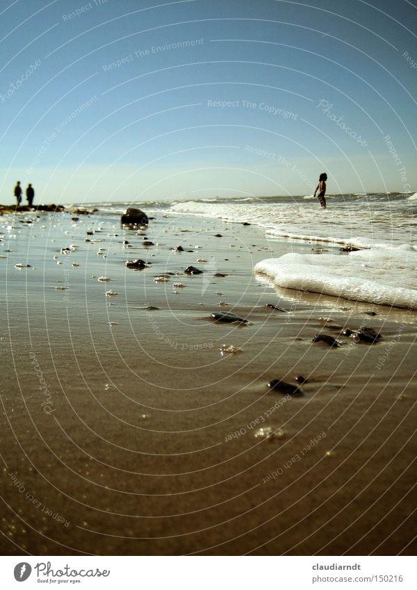 Human being Water Ocean Summer Beach Vacation & Travel Relaxation Sand Waves Coast Horizon Swimming & Bathing Baltic Sea