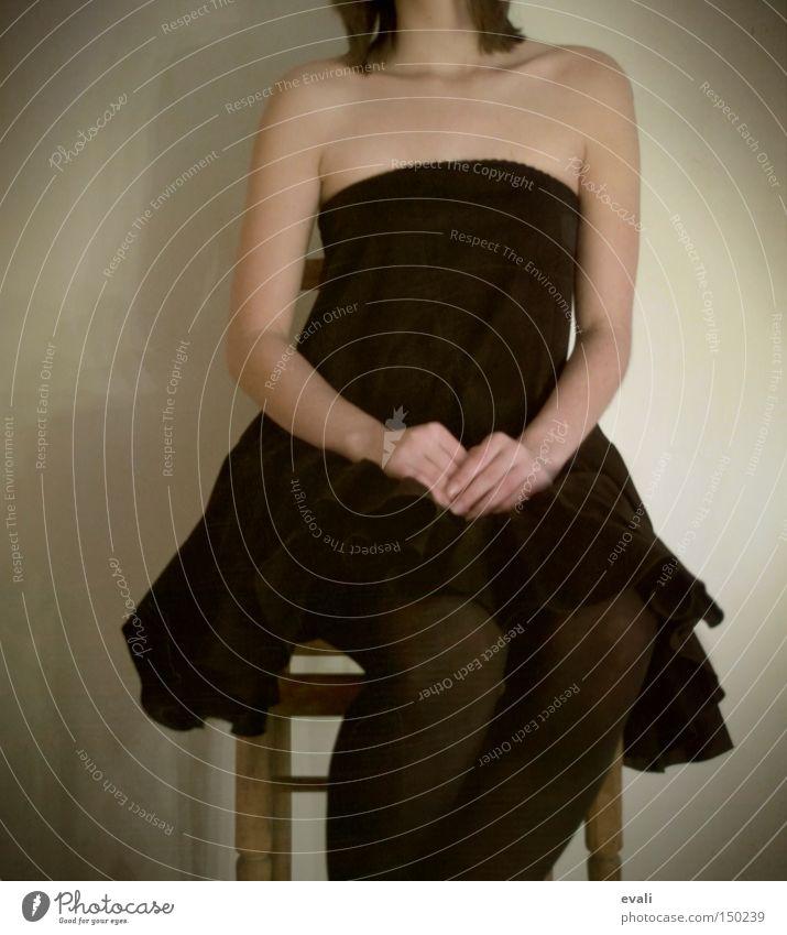 Woman Black Wait Arm Clothing Sit Chair Dress Shoulder Headless